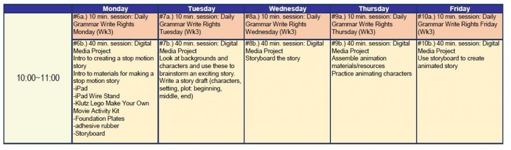 program B timetable